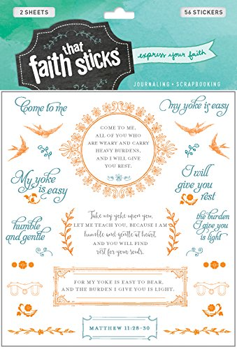 Matthew 11:28-30 (Faith That Sticks Stickers)