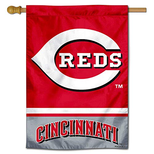 Cincinnati Reds Double Sided House Flag