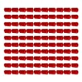 CNBTR Round PVC Red Finisher Pipe Stop Rubber Screw Thread Protector Cover Hose End Cap