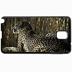 Personalized Protective Hardshell Back Hardcover For Samsung Note 3, Cheetah Design In Black Case Color