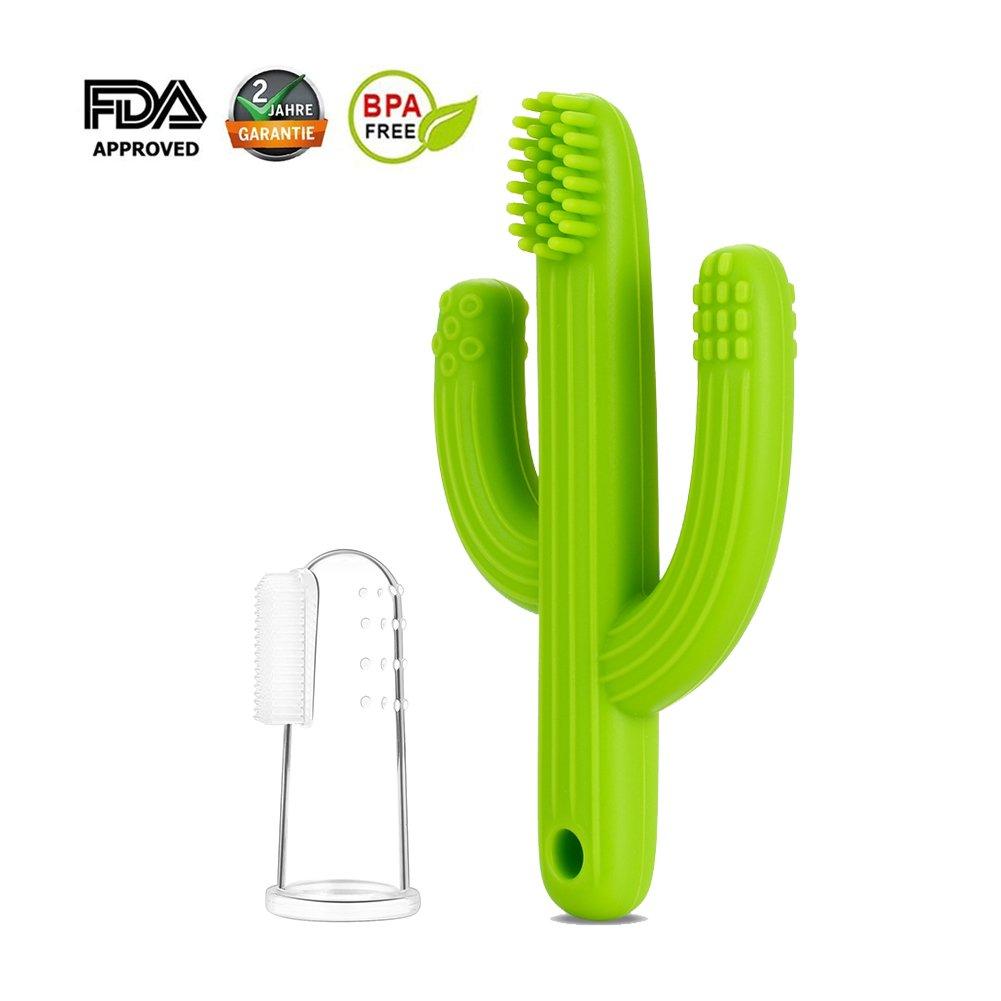 Cactus Jouet de dentition et silicone 100/% sans BPA Mr.Van Anneau Dentition bebe Bleu