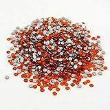 1400 pcs Rhinestone Crystal Glass A Flatback Round Gems Embellishments CVKE0 Orange Red Nacarat