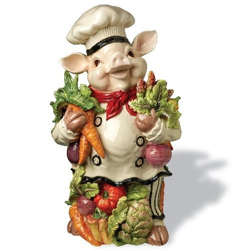 Kaldun and Bogle 093163 Bistro Couchon Chef Pig Figurine, Multicolored