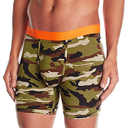 MyPakage Weekday Boxer Brief - Camo Orange - Medium (32-34) (Fitted Logo Roll)