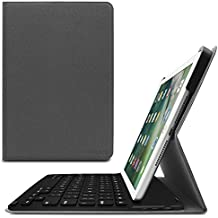 Infiland New iPad 9.7 2017 Keyboard Case - Ultra-thin Smart Stand Cover Case with Bluetooth Keyboard for Apple iPad 5th Gen Model A1822/ A1823 9.7 Inch 2017 Released(Auto Wake/ Sleep), Space Grey