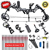 XGeek Compound Bow,Compound Hunting Bow Kit,Limbs Made in USA,19-30 Draw Length,19-70Lbs Draw Weight,Up to 320FPS, (2 Years Warranty) Larger Image