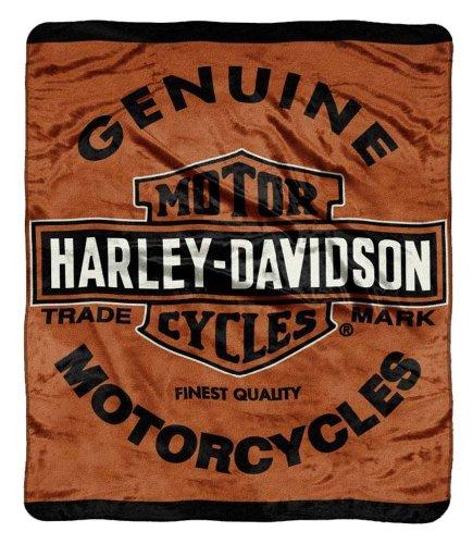 - Harley Davidson, Genuine 46-Inch-by-60-Inch Micro-Raschel Blanket by The Northwest Company