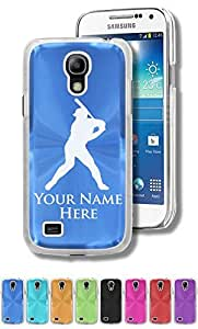 Personalized Case/Cover for Samsung Galaxy S4 Mini - BASEBALL PLAYER - Engraved for FREE