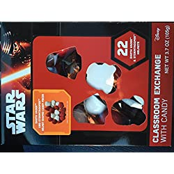 Disney Star Wars Darth Vader and Stormtrooper Classroom Valentine Day Hearts with Candy 22 Pack