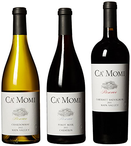 Ca' Momi Reserve Napa Valley Wine Mixed Pack, 3 x 750 mL