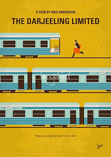 Wall Art Print entitled No800 My The Darjeeling Limited Minimal Movie Post by Chungkong Art   11 x 15