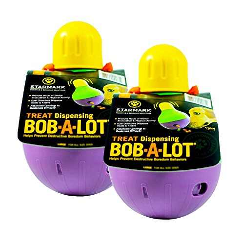 StarMark Bob-A-Lot Interactive Dog Toy - Large-2 Pack by StarMark