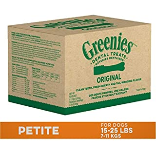 GREENIES Original Petite Natural Dog Dental Care Chews Oral Health Dog Treats, 72 oz. Pack (120 Treats)