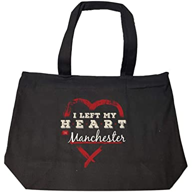 Amazon com: I Left My Heart In Manchester Pride - Fashion Zip Tote