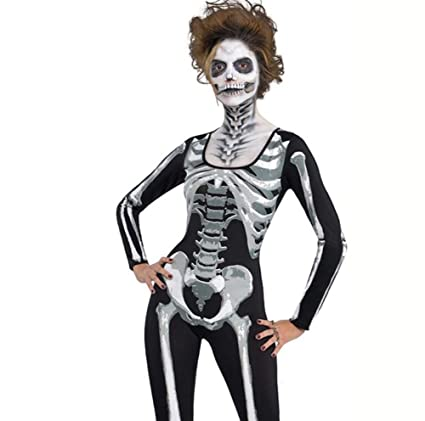 QIONGQIONG Trajes De Halloween Traje Esqueleto Mono Mono De ...