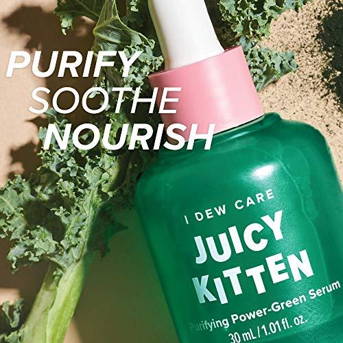 I DEW CARE Juicy Kitten   Purifying Power-Green Face Serum with Niacinamide   Korean Skin Care, Vegan, Cruelty-free…