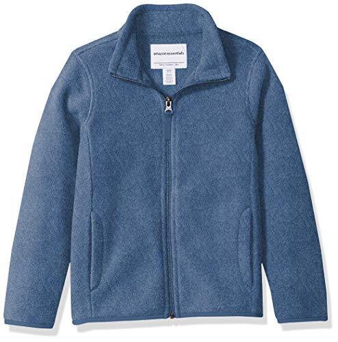 Amazon Essentials Girl's Full-Zip Polar Fleece Jacket, Blue Heather, -