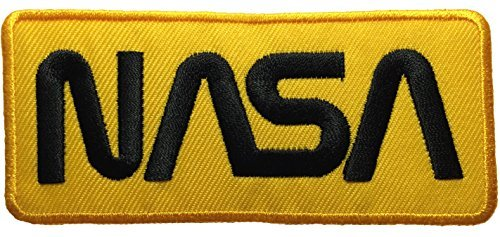 [Nasa Space Shuttle Vector Discovery Agency Houston USA Embroidered Appliques Hat Cap Polo Backpack Clothing Jacket Shirt DIY Sewing Iron On Costume Badge Logo Patch - Yellow] (Russian Costume Pattern)