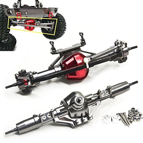 - Aluminum Axle Front & Rear Axle FitFor 1/10 RC Rock Crawler AXIAL SCX10 Honcho (Front & Rear Axle)
