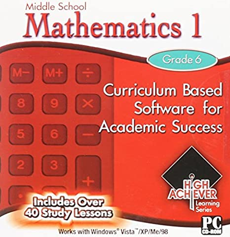 20 Pack Of High Achiever Educational Computer Software Fun and Entertaining for Middle and High School Students Grades 6 7 8 9 10 11 and 12th Grade Math Mathematics Algebra Geometry Trigonometry Study Skills US History Government English Spelling (Educational Software)