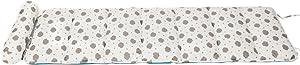 Creation Core Folding Mattress Ultra Soft Cotton Children or Adult Nap Mat Office Sleeping Mat with Removable Pillow (White Cloud)