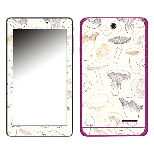 'Disagu SF 106572 _ 1190 Designer Skin Case Cover for TrekStor SurfTab Breeze Quad - Mushrooms 02 Clear (Breeze Mushroom)