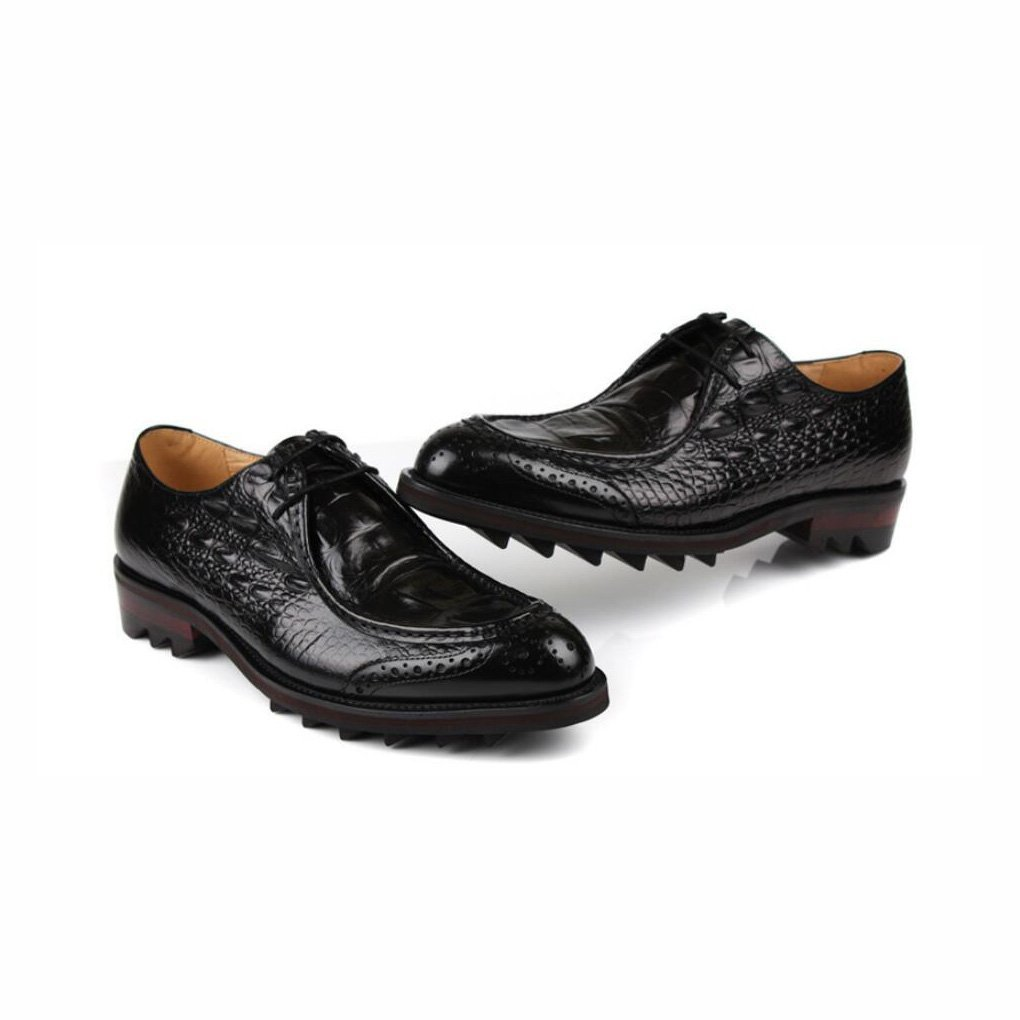 British Style Uniform Dress Shoes,Wedding Shoes,Casual Party,Black,41 Mens Fashion Leather Formal Shoes,Business Pointed Toe Shoes