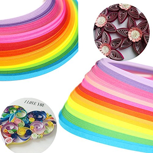 Quilling Paper - 160 Strips Mix Color Papercraft Tool 3 x 390mm EAGLESTIME