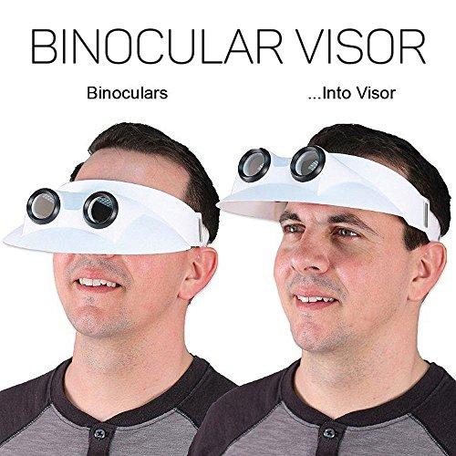 ASTRA INTERNATIONAL Binocular Sun Visor Hat 2.5X Magnification Bird Watching Vision Optical Lens