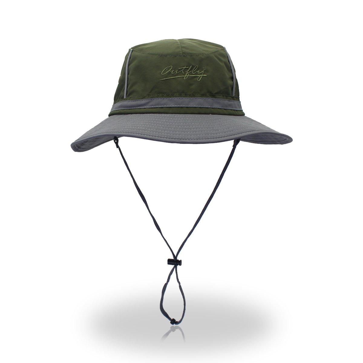 5fbb751d Amazon.com : FayTop Summer Sun Hat UPF 50+ Boonie Hat Adjustable Bucket  Hats Sun Protection Hat Outdoor Cap Hat Fishing Hat for Women Men  B16015-Army ...