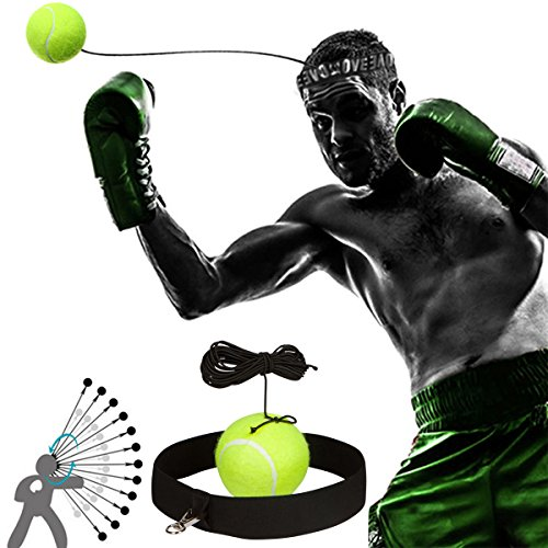 Boxing Fight Ball Reflex Fight Ball with Head Band for Reflex Speed Training Boxing Punch Exercise Training to Improve Reactions and Speed, Boxing Gym Equipment for Both Training and Fitness