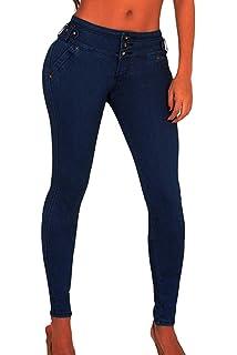 Yacun Femmes Les Fesses De Jeans Taille Haute des Liftting Étirer Jeans d35c5b2b6727