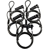 Five Pack of Sendt Black Notebook/Laptop Combination Lock Security Cables
