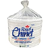 Royal Chinet Dinner Plates, 150 Pack