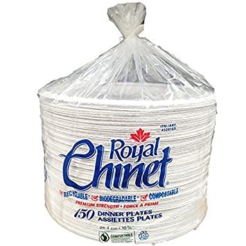 Royal Chinet Dinner Plates, 150 Pack: Amazon.ca: Health & Personal Care