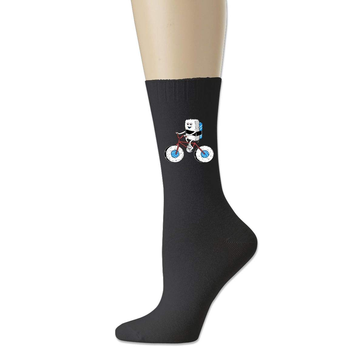 Rigg-socks Sushi Bicycle Mens Comfortable Sport Socks Gray