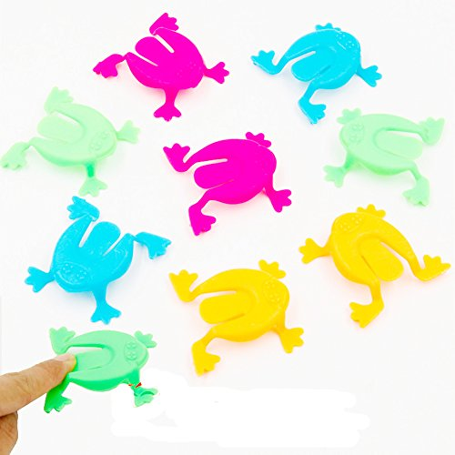 9Snail 36PCS 2 Inch Jumping Frog Hoppers Game Kids Party Favor Birthday Party Toys for Girl Boy Goody Bag Pinata
