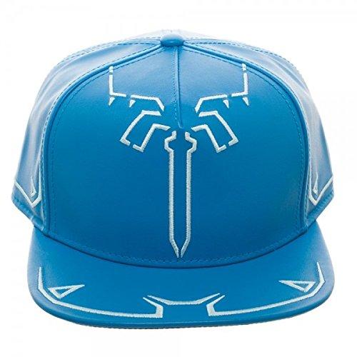 Nintendo Zelda Breath of The Wild Tunic Synthetic Leather Snapback Standard Blue