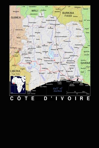 Modern Day Color Map of the Nation Cote d'Ivoire in Africa Journal: Take Notes, Write Down Memories in this 150 Page Lined Journal