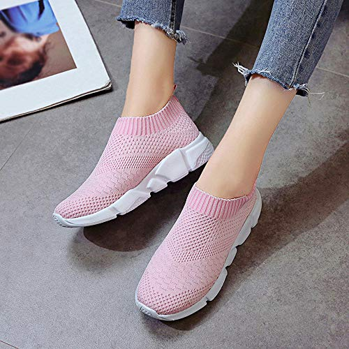 Plat Hlhn On Conduite Casual Baskets Course Rose De Chaussures Mocassins Sport Maille Pied Confort Outdoor Femmes Slip wrTwqHO8