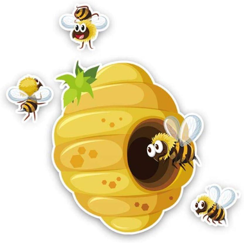 15.4CM15.1CM Bees Build Beehives Car Sticker Originality PVC Decal 12-300919