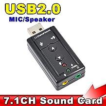 Tehner(TM) External USB AUDIO SOUND CARD ADAPTER VIRTUAL 7.1 ch USB 2.0 Mic Speaker Audio Headset Microphone 3.5mm Jack Converter