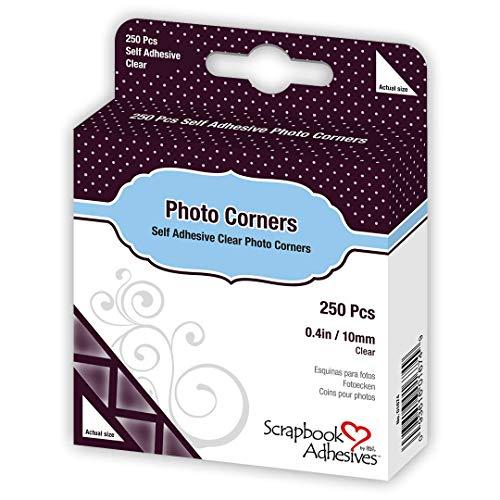 3L Self Adhesive Photo Corners, 3/8-Inch, 250-Pack, Clear