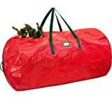 """ZOBER Christmas Tree Bag - Non-Woven Polyester Artificial Christmas Tree Storage Bag for Christmas Tree up to 9 ft Tall with High Performance Zipper 60"""" x 30"""" x 30"""" Red"""
