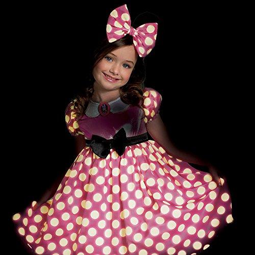 Piccolo Nel Bagliore Rosa Dot Minnie Mouse Bianco Costume Scuro q4q18x