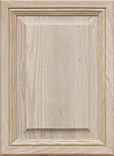 (Unfinished Oak, Mitered Raised Panel Cabinet Door by Kendor, 22H x 16W)