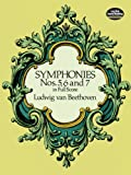 Symphonies Nos. 5, 6 and 7 in Full Score (Dover Music Scores), Ludwig van Beethoven, Music Scores, 0486260348