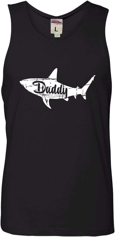 Adult Fashion Daddy Shark Sleeveless Tank Top Cotton T-Shirt