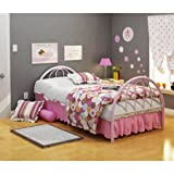 Brooklyn Metal Twin Bed, Multiple Colors, Pink