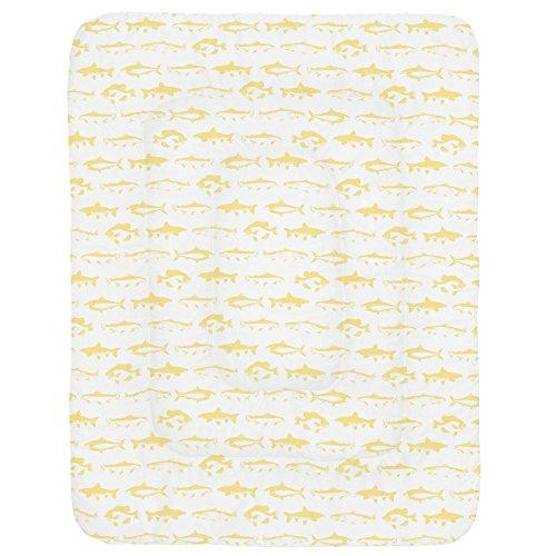 Carousel Designs Banana Yellow Fish Crib Comforter